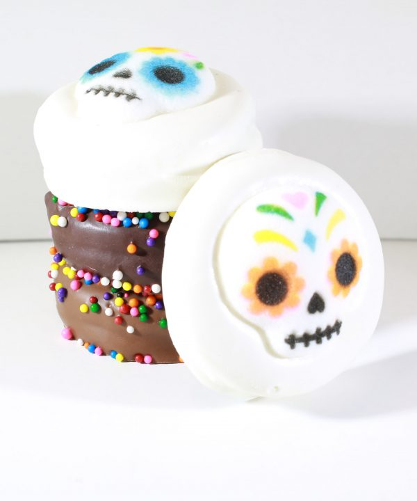 Chocolate Dipped Oreos Skull Stack