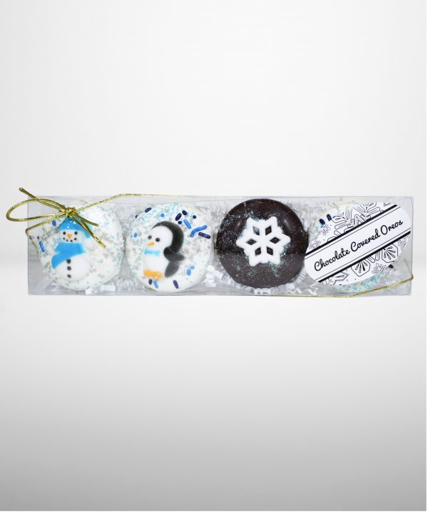 Chocolate Dipped Oreos north pole