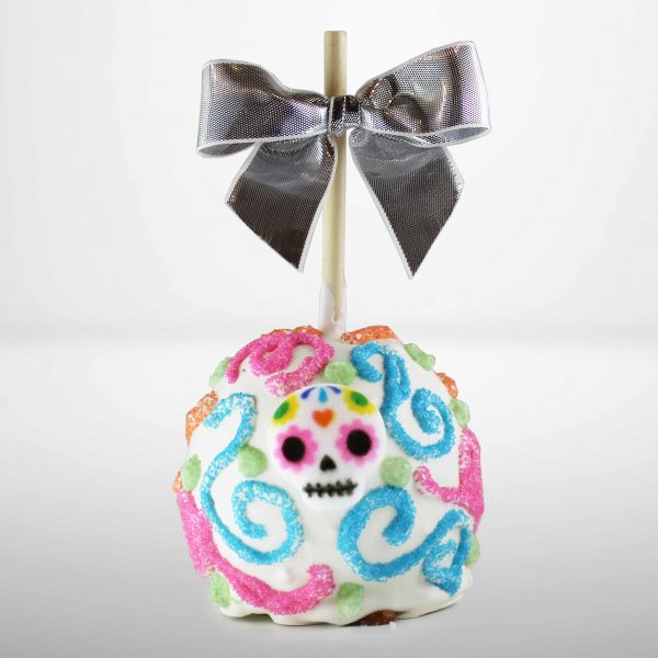 White Chocolate Caramel Apple Day of the Dead